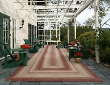 Ultra Durable Washable Braided Area Rug Rectangle Oval Indoor Outdoor Mauve