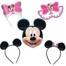 Disney Mickey & Minnie Mouse Boys Girls  Kids Birthday Party Masks & Mouse Ears!
