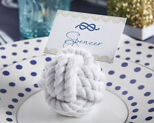 Nautical Rope Knot Place Card Holder Summer Beach Bridal Wedding Favor