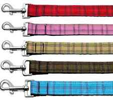 Pet Leash PLAID Nylon Leash for Dog Dogs Puppy Puppies