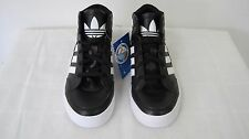 New! Adidas Originals Boys Hard Court Hi G59747 Black/White Youth  SOLID!!/A16