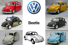 RMZ CITY DIECAST 1:36 CAR Volkswagen Beetle Model Red, Yellow, Black, White Blue