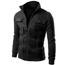COOL Designed Men's Casual Jacket Slim Fit Jacket Coat Sexy Outwear Stand Collar