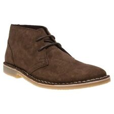 New Mens Ben Sherman Brown Laxy 2 Eye Desert 2 Suede Boots Lace Up
