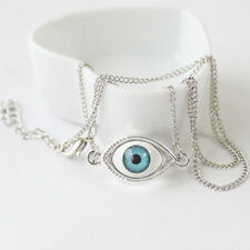 High Fashion The Devil's Eye Eyeball Pendant Cool Retro Bronze Evil Eye Necklace