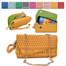 Tribal Protective Wallet Case Cover & Crossbody Clutch for Smart-Phones MLUC23