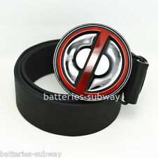 New Fashion Western Superhero Deadpool Mens Metal Belt Buckle faux Leather Gift
