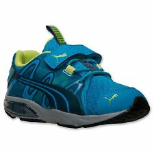 Kids Shoes Puma POWERTECH VOLTAIC Running Shoes Youth Sizes Blue/Lime NWB