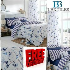 Catherine Lansfield Padstow Nautical Duvet Cover Set