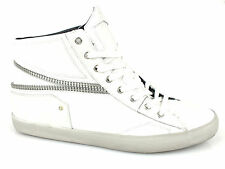 CRIME London sneakers uomo PELLE BIANCO WHITE 11009S15B estate 2015