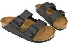 Birkenstock Arizona 051791 New Men Birko Flor Black Leather Casual Sandals