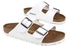 Birkenstock Arizona 552681 New Mens Womens Unisex White Leather Sandals Shoes