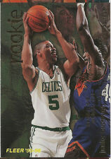 1995-96 Fleer: Junior Burrough - ( RC ) Rookie Card #285 - Boston Celtics