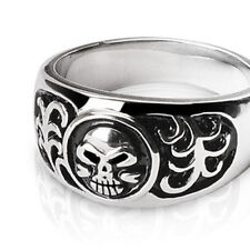 316L Surgical Stainless Steel Gothic Skull Ring