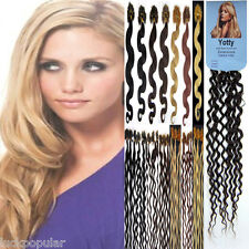 Pre Bonded Keratin Nail U Tipped Gule Remy Human Hair ExtensionsWater Curly 20''