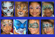 Reusable face painting stencil free uk postage