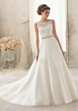 2015 New white and Ivory lace Wedding dress Bridal Gown stock size : 6--16