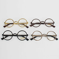 Nerd Clear Lens Spectacles Vintage Retro Round Classic Best Metal Frame Glasses