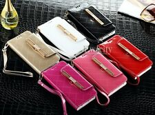 Luxury Deluxe Bing Handy Wallet Leather Stand Case Cover for Samsung Galaxy S6