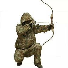 Outdoor Men bionic leaves camouflage  hooded suit  for Hunting Fishing