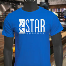 The Flash DC Barry Allen Laboratories Star Labs Mens Blue T-Shirt