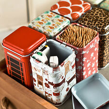 Small Cute Catoon Cylinder Tea Food Storage Toothpick Caddy Tin Canister Boxes