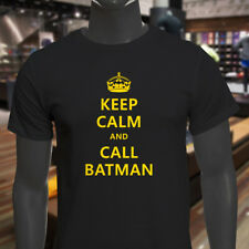 Chive Funny Keep Calm and call Batman Mens Black T-Shirt