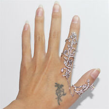 Gothic Cool Double Full Finger Knuckle Armor Long Ring Punk Rock JEWELRY