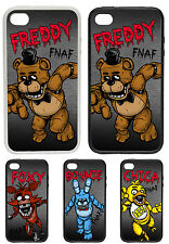 Five Noches de Freddy's Personajes Printed Rubber and Plastic Phone Funda FNAF