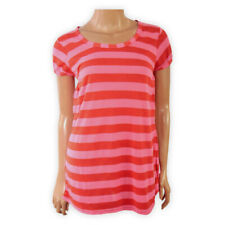 NEXT Womens Ladies Short Sleeve Stripe TOP Red Pink Girls Casual T-SHIRT Blouse
