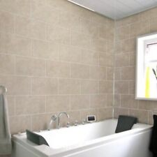 8 Beige Tile Effect Dumalock Wall Panels Bathroom Kitchen Shower PVC Cladding
