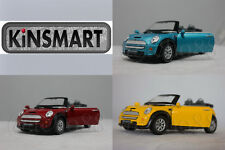 KINSMART 1:28 DIECAST Mini Cooper S Convertible Car Red / Blue / Yellow Model