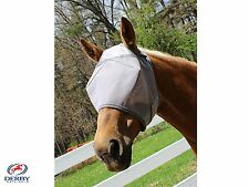 Derby UV Protection Horse Fly Mask without Ears Grey Select Size Over Stock Sale