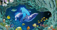 Large Murals Undersea World 3 D Visual Wall Paper Home Decor Wall Mural