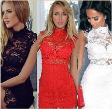 2015 Sexy Women Lace Dress Summer Women Vintage Bodycon Mini Party Evening Dress