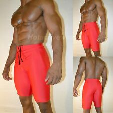HIND MENS RED MATTE FINISH LYCRA SPANDEX RUNNING COMPRESSION  SHORTS