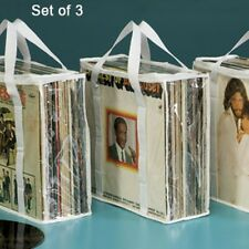 New ~ Set of 3 Record Album Storage Bag BLACK or WHITE Protector Vinyl LP