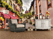 Large Murals European Streets 3 D Visual Home Decor Wall Mural