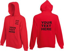 Adults Hoodie Fruit of the loom plain or personalised name  workwear team group