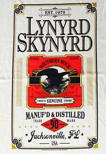 "NEW! Lynyrd Skynyrd  ""Manuf'd & Distilled Label"" Classic Rock Tour Adult T-Shirt"