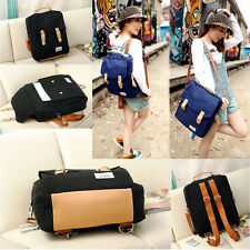Women Canvas Backpack Shoulder Bag Schoolbag Bookbag Tote Handbag Campus Fashion