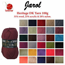 Jarol Heritage DK 100g Double Knitting Yarn with Wool  - Acrylic, Nylon, Wool