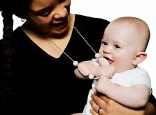 For Nursing Breastfeeding Mum and Baby Chew Silicone Teething Necklace Jewellery