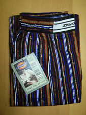Dickies Womens Chef Pants CW050104 Multi-Color Striped 100% Cotton Size L-XL NWT