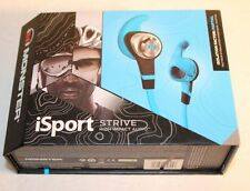 Monster iSport Strive With Control Talk In-Ear Blue Headphones