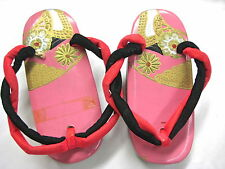 VINTAGE 1950's CHILD'S  JAPANESE GETA THONGS AND TABI SOCKS --LACQUERED WOOD