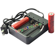 2 PCS 18650 3.7V GTL 5300mAh Li-on Rechargeable Battery for LED Torch + Charger
