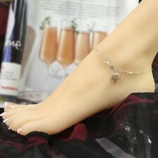 Tree of Life Anklet - Sterling Silver Anklet -Box Chain Tree Charm Anklet