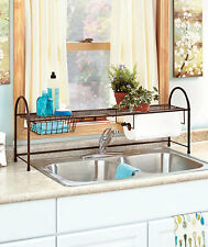Over the Sink Kitchen Organizer Wire Rack Holder & Basket Space Saver Storage