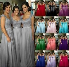 New Chiffon Wedding Party Ball Prom Gown Evening Formal Bridesmaid Dress 6-20